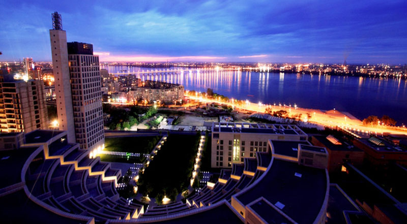 Dnepropetrovsk at night